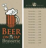 Beer menu Royalty Free Stock Images
