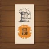 Beer Menu Restaurant Pub Oktoberfest Festival Poster Holiday Decoration Banner Stock Image
