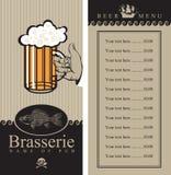 Beer menu. With sailboat and a fish Stock Photos