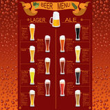 Beer menu set, creating your own infographics Stock Photos