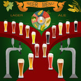 Beer menu set, creating your own infographics Royalty Free Stock Photo