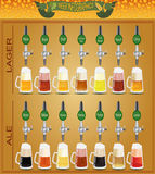 Beer menu set, creating your own infographics Stock Photography
