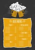 Beer menu template. Stock Photo