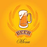 Beer menu Royalty Free Stock Photos