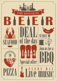 Beer menu Stock Photography