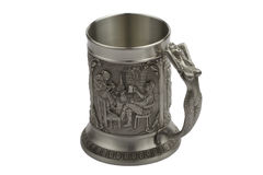 Beer metal mug Royalty Free Stock Images
