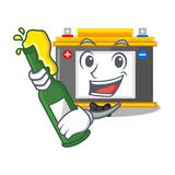 With beer miniature accomulator in the a shape vector illustration