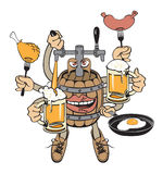 Beer monster Royalty Free Stock Images