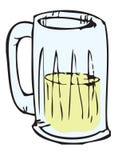 Beer mug. Cartoon illustration of a beer mug Royalty Free Stock Image