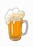 Beer mug. Vector beer mug isolated on a white background Stock Photos