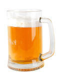Beer mug. A mug of beer with froth. Isolated object on a white background Royalty Free Stock Image
