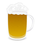 Beer mug. Isolated object over white background Stock Photos
