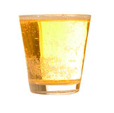 Beer mug. A mug of beer with froth and slight spill royalty free stock photo