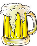 Beer Mug. Hand made vector illustration of a glass of beer in cartoon style Royalty Free Stock Images