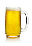 Beer in mug. Ice cold beer in mug Stock Photo