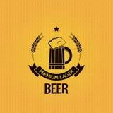 Beer mug barley design background Stock Photo