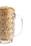 Beer mug with barley. Royalty Free Stock Image