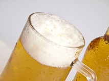 Beer mug and bottle Stock Photo