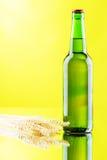 Beer mug and bottle  on white background Royalty Free Stock Photo