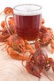 Beer mug and cancers Stock Photo