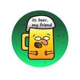 Beer mug character Royalty Free Stock Photography