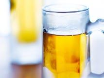 Beer mug close up stock photo