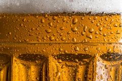 Beer mug. Close up of a cold light beer in a mug Royalty Free Stock Photo