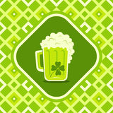 Beer mug with clover Stock Images