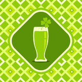 Beer mug with clover Stock Photography