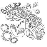 Beer mug. Coloring book for adults. Royalty Free Stock Photo