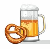 Beer mug, coloured picture. Royalty Free Stock Photography