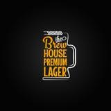 Beer mug design background Stock Image