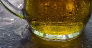 Beer Mug and Dew Drops stock video footage