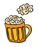 Beer mug with foam Royalty Free Stock Photo