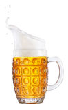 Beer in mug with foam Royalty Free Stock Photo
