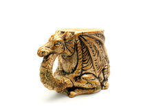Beer mug in the form of a dragon Stock Photo