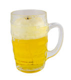 Beer mug with froth isolated on white background Stock Photo