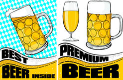 Beer mug and glass Royalty Free Stock Photography