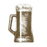 Beer Mug Hand Draw Sketch. Vector vector illustration