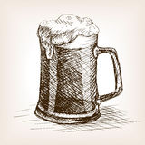 Beer mug hand drawn sketch style vector Royalty Free Stock Images