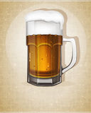 Beer mug with handle Royalty Free Stock Photo
