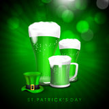 Beer mug with hat for St. Patricks Day celebration. Stock Photography