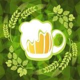 Beer mug and hop Stock Photography