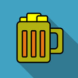Beer mug icon  bright colorful simple Stock Photos