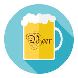 Beer mug. Icon. Flat design, illustration stock illustration