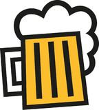Beer mug icon squared. Vector Royalty Free Stock Image