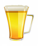 Mug of Light Ale Illustration. A vector illustration of a pale ale IPA style beer in a tall glass handled mug stock illustration