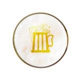 Beer mug illustration on beer foam background Stock Images