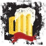 Beer mug insignia Stock Photo