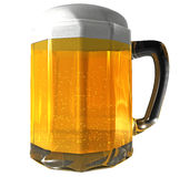 Beer mug isolated. 3d isolated mug of beer Royalty Free Stock Image